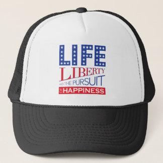 Casquette La vie, liberté et la poursuite du bonheur