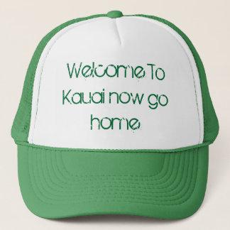 Casquette L'accueil vers Kauai rentrent maintenant à la