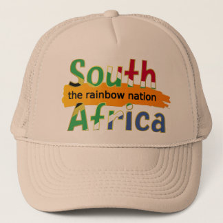 Casquette L'Afrique du Sud - la nation d'arc-en-ciel