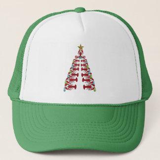 Casquette laid de partie mignonne d'arbre de Noël