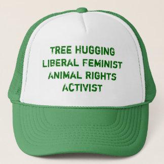 Casquette L'arbre étreignant des droits des animaux