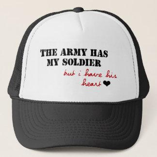 Casquette L'armée a mon soldat, mais j'ai son coeur