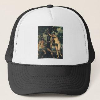 Casquette L'automne de l'homme ; Adam et Ève par Titian