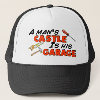 Casquette Le CHÂTEAU d'un homme est son GARAGE