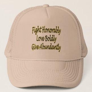 Casquette Le combat honorablement, aiment hardiment, donnent