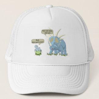 Casquette Le dinosaure indique que Dieu n'existe pas