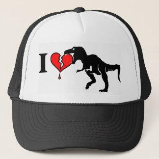 Casquette Le dinosaure mangent le coeur