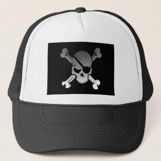 Casquette Le drapeau de pirate d'os croisés de crâne se
