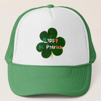 Casquette Le drapeau irlandais heureux de St Patrick colore
