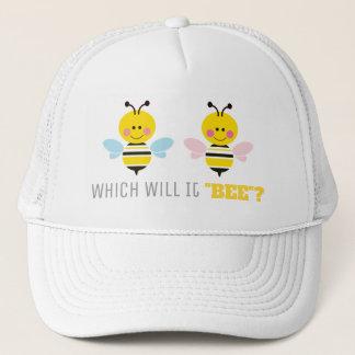 Casquette Le genre rose et bleu d'abeilles indiquent le baby