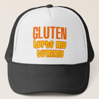 Casquette Le gluten blesse mon ventre