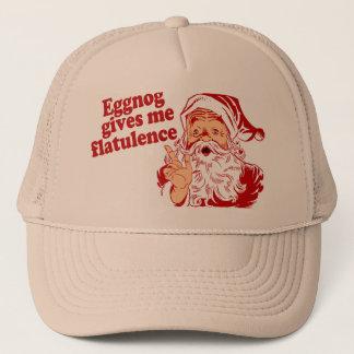 Casquette Le lait de poule donne la flatulence de Père Noël