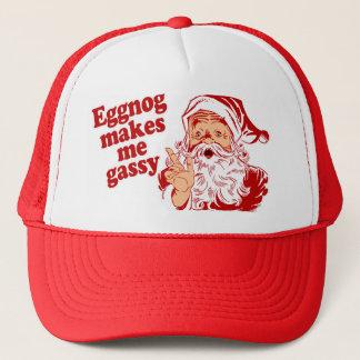 Casquette Le lait de poule rend Père Noël flatulent