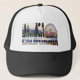 Casquette Le logo de Santa Monica fleurit la plage de pilier