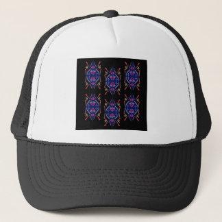 Casquette Le luxe ornemente le noir bleu folklorique arabe