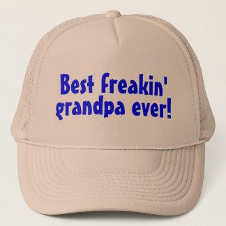 Casquette Le meilleur grand-papa de Freakin jamais (bleu)