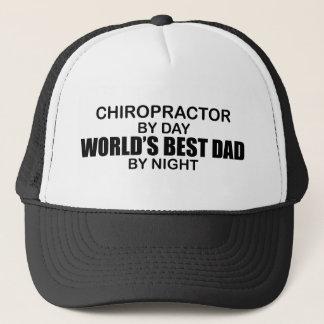 Casquette Le meilleur papa du monde par nuit - chiroprakteur