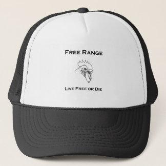Casquette Le poulet libre de gamme - libre vivant ou meurent