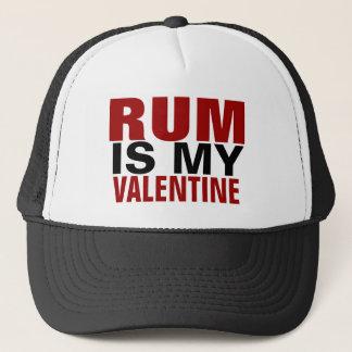 Casquette Le rhum drôle est ma anti Saint-Valentin de