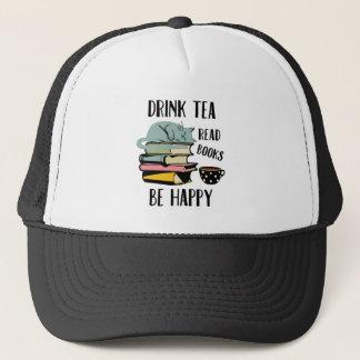 Casquette Le thé de boissons a lu des livres soit heureux