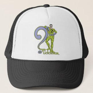 Casquette Le vert de Riddler et de logo