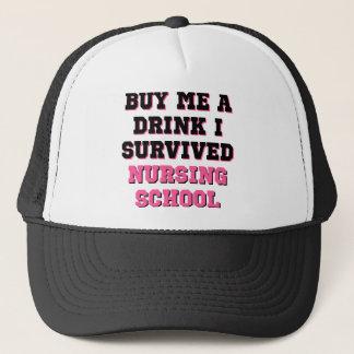 Casquette L'école d'infirmières m'achètent une boisson