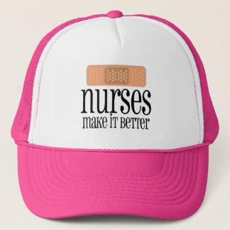 Casquette Les infirmières le rendent meilleur, bandage