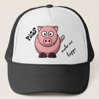 Casquette Les porcs me rendent heureux