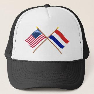 Casquette Les USA et drapeaux croisés par Pays-Bas