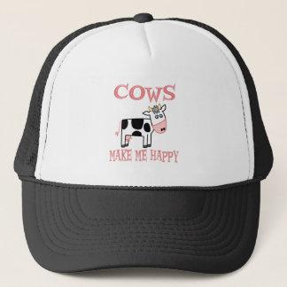 Casquette Les vaches me rendent heureux