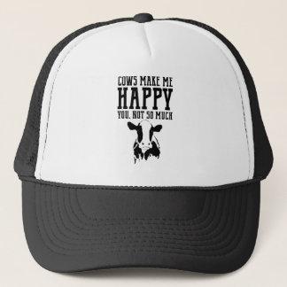 Casquette Les vaches vous rendent m'heureux, pas tellement