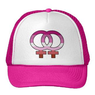 Casquette lesbien de camionneur de symbole de
