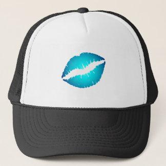 Casquette Lèvres bleues