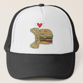 Casquette L'hamburger aime des fritures