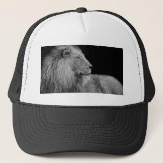 Casquette LION le roi de LION de la jungle en noir et blanc
