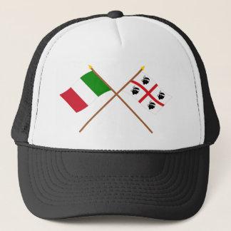 Casquette L'Italie et les drapeaux croisés par Sardegna