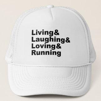 Casquette Living&Laughing&Loving&RUNNING (noir)