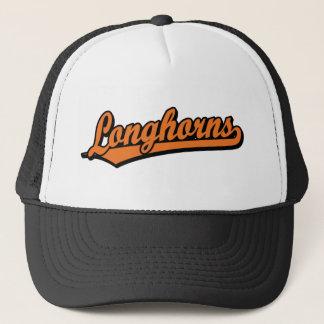 Casquette Logo de manuscrit de Longhorns dans l'orange