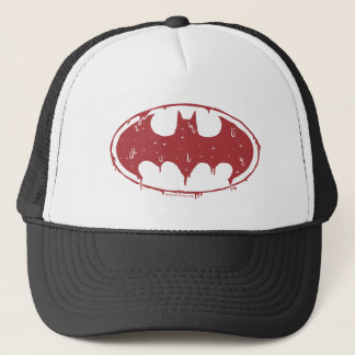 Casquette Logo de suintement de batte rouge de Batman |