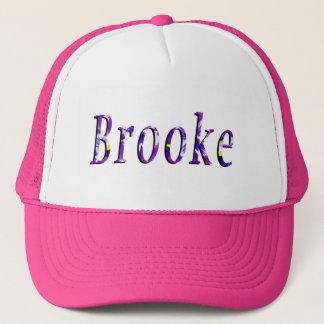 Casquette Logo nommé floral pourpre de Brooke,