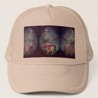 Casquette Loup gris - loup foncé - loup américain - art de