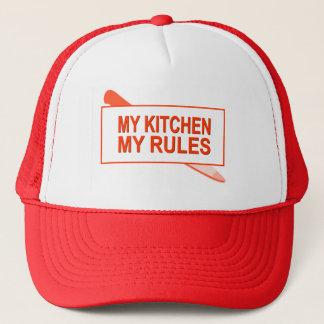 Casquette Ma cuisine. Mes règles. Conception d'amusement