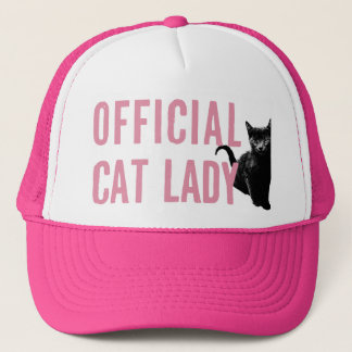 Casquette Madame officielle Hat Pink de chat