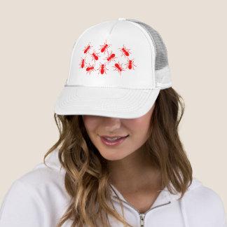 Casquette Madame Trucker Funny Hat avec les fourmis rouges
