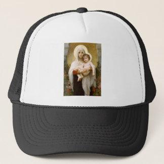 Casquette Madonna des roses et de l'enfant infantile Jésus