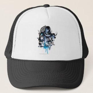 Casquette Main noire - collage bleu