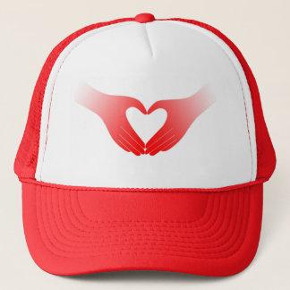 Casquette Mains en forme de coeur
