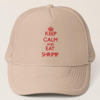 Casquette Maintenez calme et mangez de la crevette