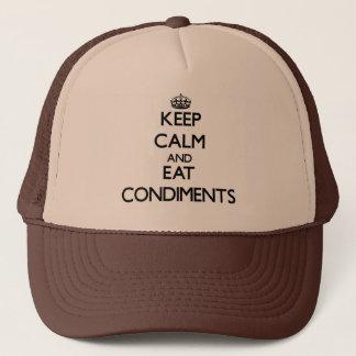 Casquette Maintenez calme et mangez les condiments