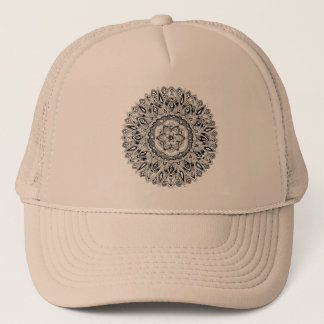 Casquette Mandala de fleur avec la graine de la vie